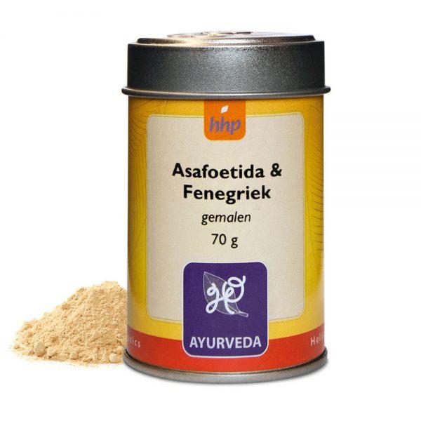 Asafoetida & Fenegriek, gemalen, - 70 gram