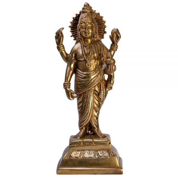 Dhanvantari-beeldje 21,5 cm