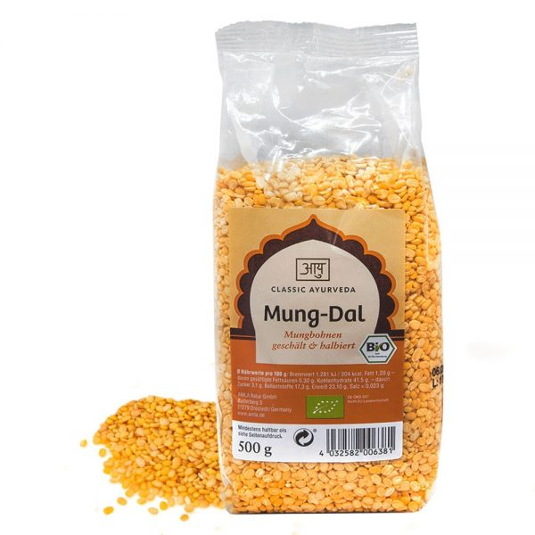 Gele mungbonen, BIO - 500 gram
