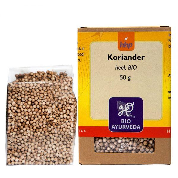 Koriander, heel, BIO - 50 gram