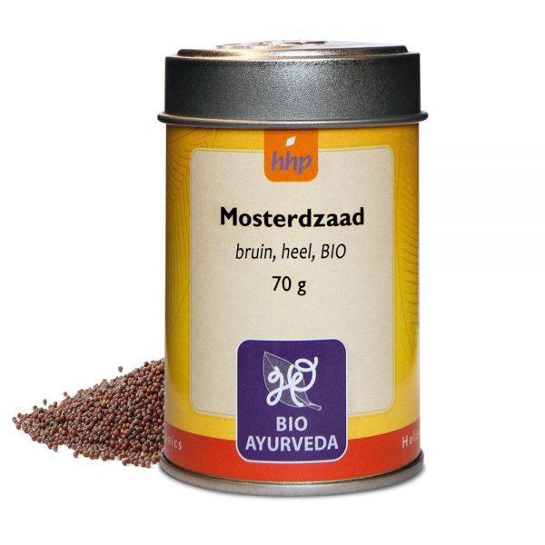Mosterdzaad, bruin, heel, BIO - 70 gram